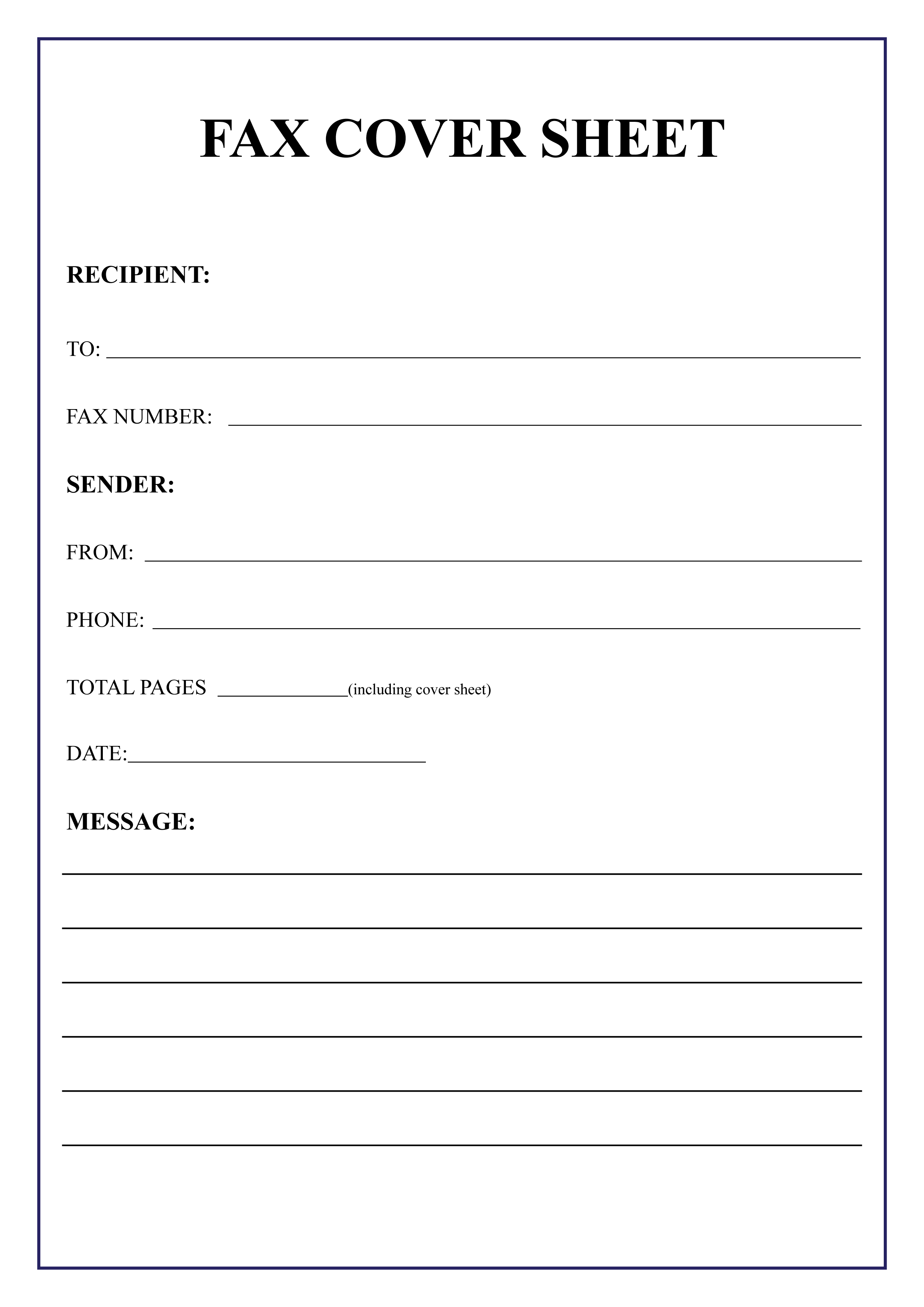 free fax cover sheet templates in pdf and word