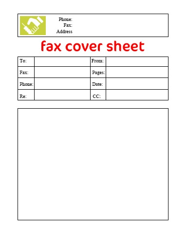 Free Blank Fax Cover Sheet Download