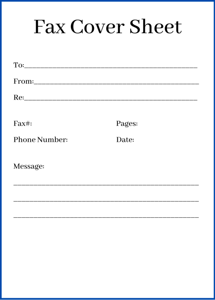 Sample Fax Cover Sheet PDF