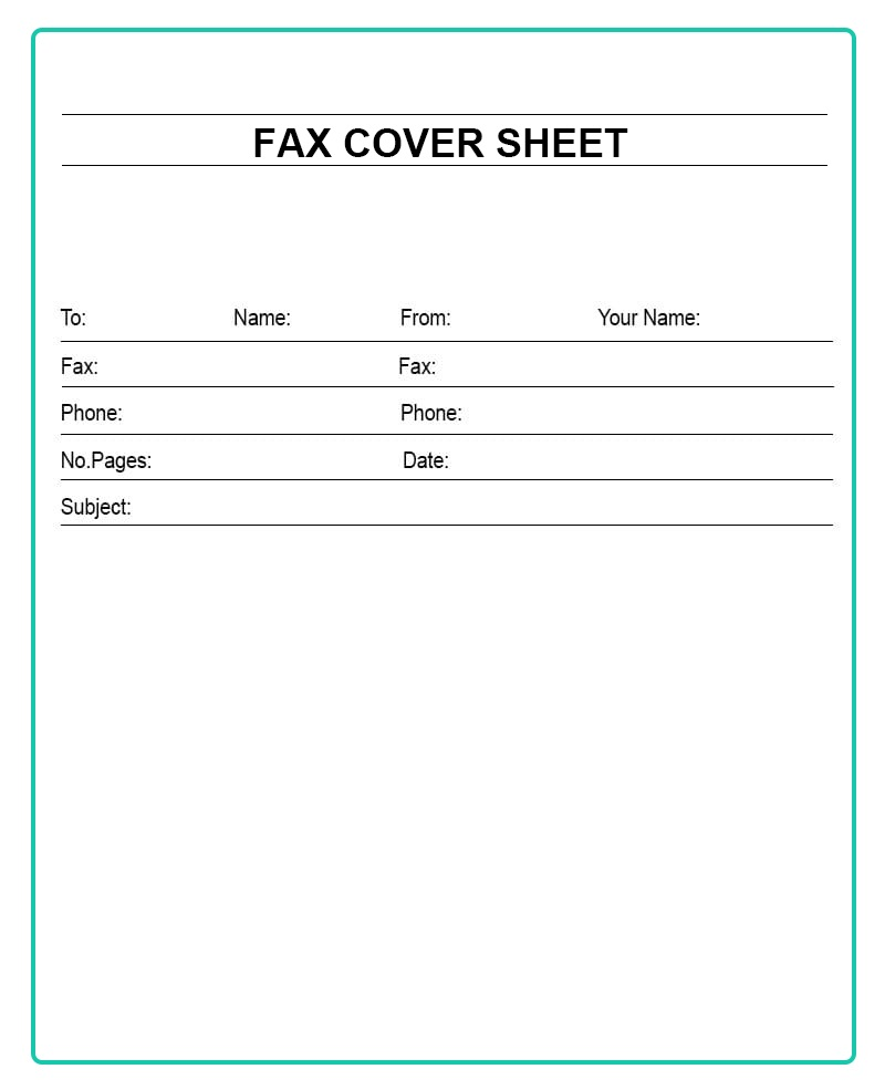 Free Printable Personal Fax Cover Sheet