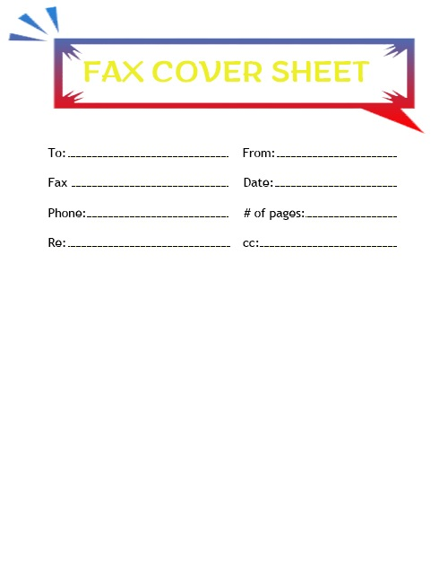Printable Free Fax Cover Sheet