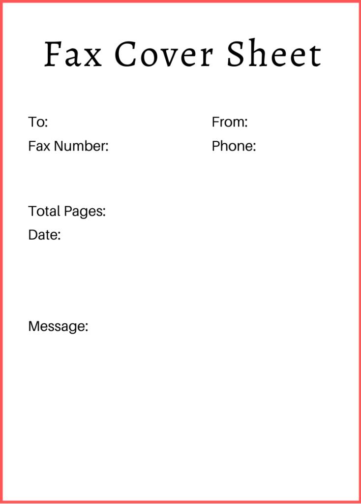 Professional Fax Cover Sheet Google Docs